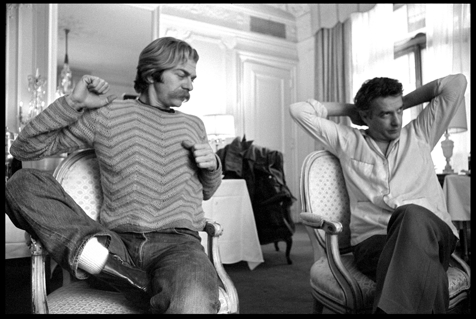 """Seymour Cassel & John Cassavetes"" Plaza Hotel, NYC 1975 F33Y"