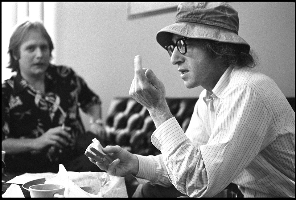 """Woody Allen & Martin Mull"" West 57th Street NYC 1973 F16"