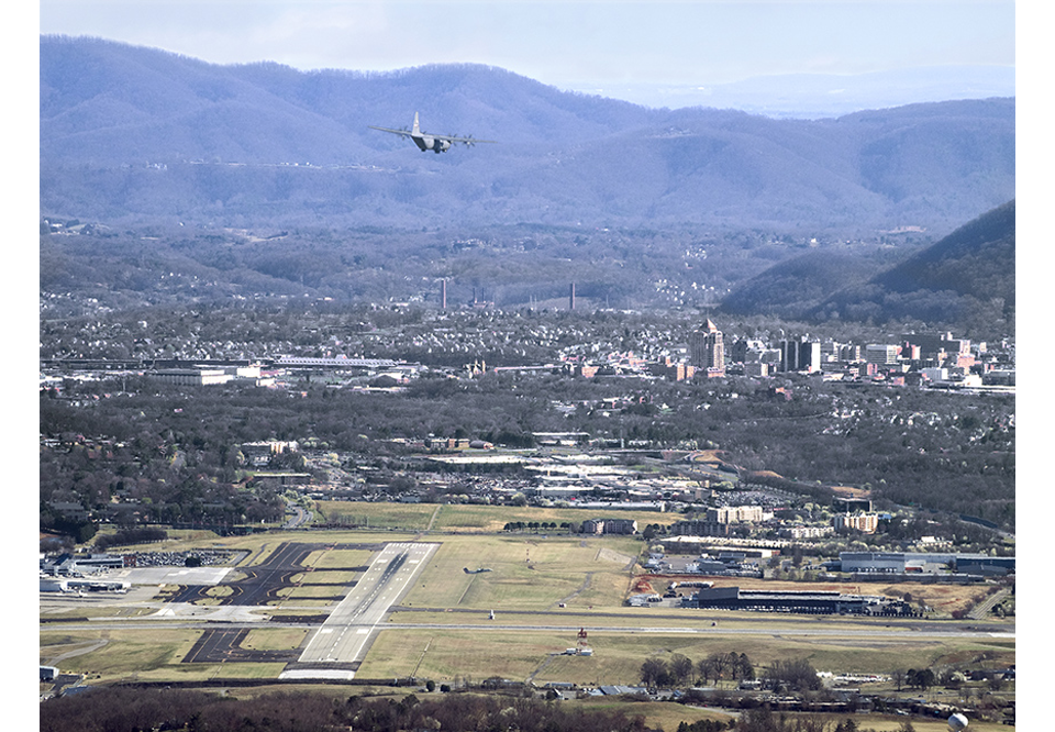 Roanoke Airport from McAfee's Knob