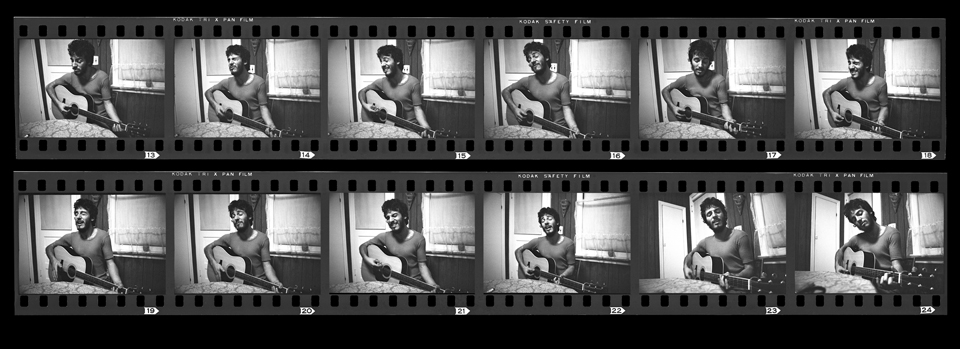 Bruce Springsteen Contact film strip, Long Branch, NJ December 12 1972